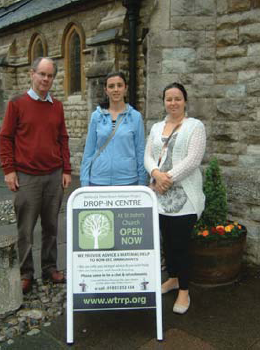 Us at the drop-in centre